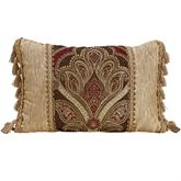 Bradney Tasseled Tailored Pillow Multi Warm Rectangle