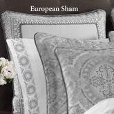 Colette Silver Piped Sham European