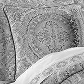 Colette Silver Piped Pillow 18 Square