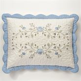 Antique Charm Scalloped Sham Dusty Blue