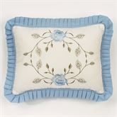 Antique Charm Ruffled Pillow Dusty Blue Rectangle