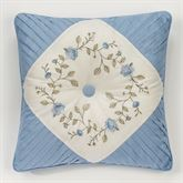 Antique Charm Tufted Pillow Dusty Blue 18 Square