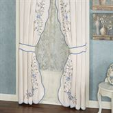 Antique Charm Tailored Curtain Pair Dusty Blue 84 x 84