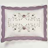 Antique Bloom Scalloped Sham Dusty Lavender