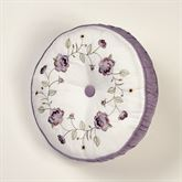 Antique Bloom Tufted Pillow Dusty Lavender Round