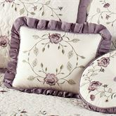 Antique Bloom Ruffled Pillow Dusty Lavender Rectangle