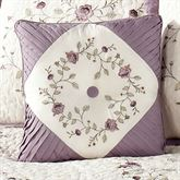Antique Bloom Tufted Tailored Pillow Dusty Lavender 18 Square