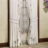 Antique Bloom Tailored Curtain Pair Dusty Lavender 80 x 84