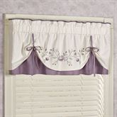 Antique Bloom Layered Valance Dusty Lavender 60 x 18