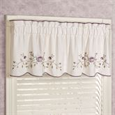 Antique Bloom Tailored Valance Dusty Lavender 60 x 18