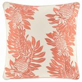 La Scala Breezer Embroidered Pineapple Pillow Ember Glow 16 Square