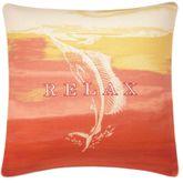 La Scala Breezer Fish Piped Pillow Ember Glow 18 Square