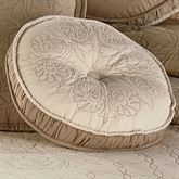 Everafter Tufted Pillow Almond Round