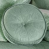 Everafter Tufted Pillow Celadon Round