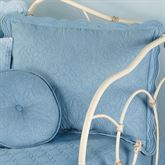 Everafter Quilted Sham Dusty Blue
