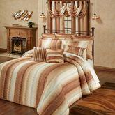 Mirage Grande Quilted Bedspread Sienna Brown