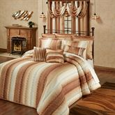 Mirage Grande Quilted Bedspread Sienna Brown