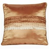 Mirage Piped Pillow Sienna Brown 18 Square