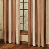 Mirage Wide Grommet Curtain Pair Sienna Brown 108 x 84