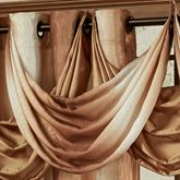 Mirage Ombre Stripe Waterfall Valance Sienna Brown 37 x 15