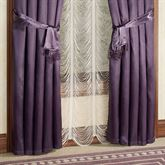Portia Wide Curtain Pair with Sash Ties