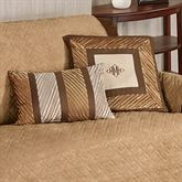 Delta Pleated Pillow Bronze Rectangle