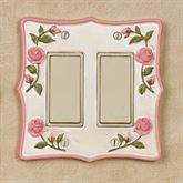 Bridal Rose Double Dimmer Rocker Blush