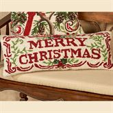 Merry Christmas Accent Pillow Multi Warm Rectangle