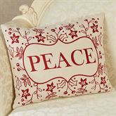 Peace Decorative Pillow Light Cream Rectangle