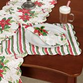 Holiday Garden Rectangle Placemats White Set of Four
