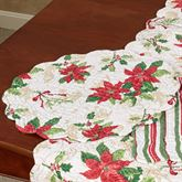Holiday Garden Round Placemats White Set of Four