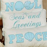 Coastal Seas and Greetings Pillow Off White