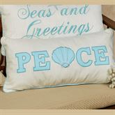 Coastal Peace Pillow Off White