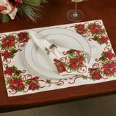 Christmas Cardinals Placemats Ivory Set of Four