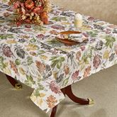 Natural Foliage Oblong Tablecloth