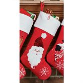 Santa Christmas Stocking Red
