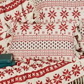 Nordic Sweater Rectangle Pillow Red
