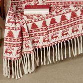 Prancer Throw Blanket Red 50 x 60