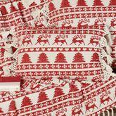 Prancer Rectangle Pillow Red