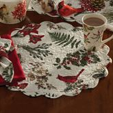Nature Sings Round Placemats Red Set of Four