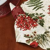 Nature Sings Napkins Red Set of Four