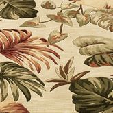Palm Leaf Rug Runner Beige 26 x 10