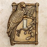 Parrot Single Switchplate Antique Brass