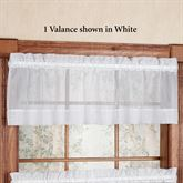 Oyster Bay Tailored Valance 55 x 12