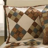 Selina Quilted Sham Chocolate Standard