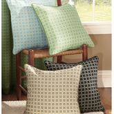Zephyr Piped Square Pillow  16 Square