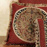Temara Fringed Square Pillow Multi Warm 18 Square