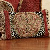Temara Tasseled Rectangle Pillow Multi Warm Rectangle