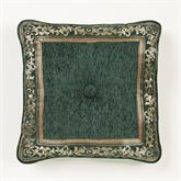 Marietta Tufted Pillow Green 18 Square