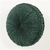 Marietta Pleated Tufted Pillow Green Round